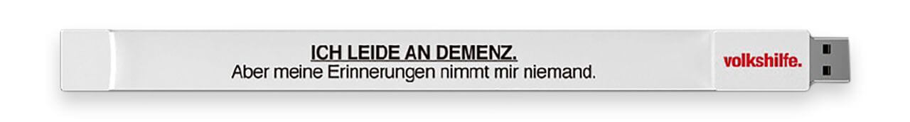 Volkshilfe Kampagne USB-Stick / Armband