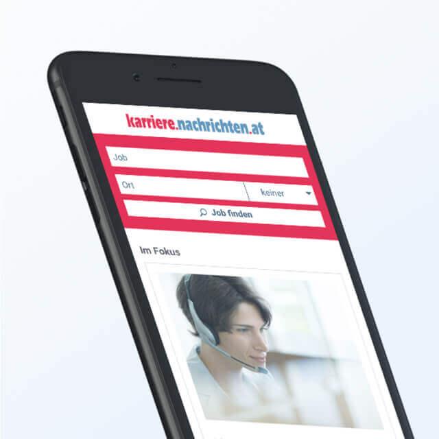 Karriere Nachrichten Webdesign Detail